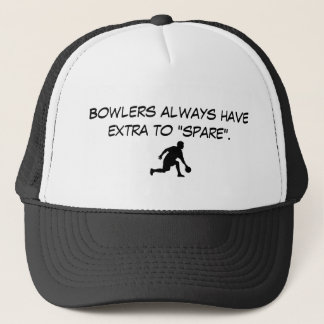 "bowling2, Bowlers always have extra to ""spare"". Trucker Hat"