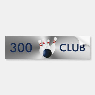 Bowling 300 Club Bumper Sticker