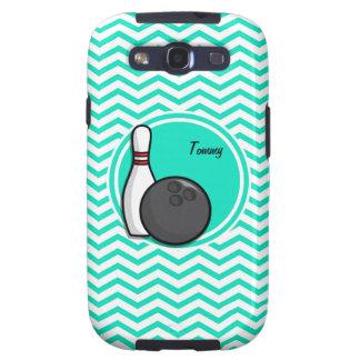 Bowling Aqua Green Chevron Samsung Galaxy SIII Covers
