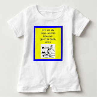 bowling baby romper