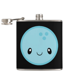 Bowling Ball Emoji Hip Flask