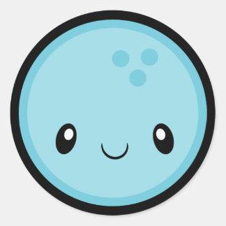 Bowling Ball Emoji Round Sticker