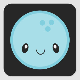 Bowling Ball Emoji Square Sticker