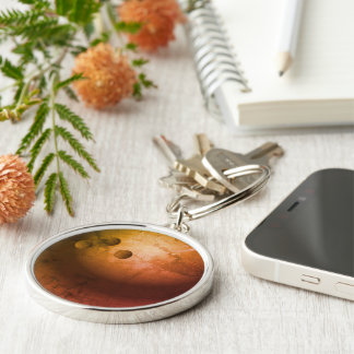 Bowling Ball Gift Silver-Colored Round Keychain