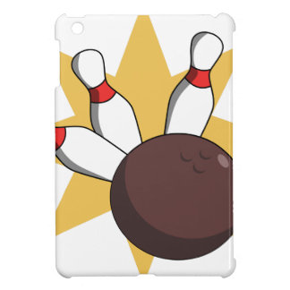 Bowling Ball Hitting Pins Case For The iPad Mini