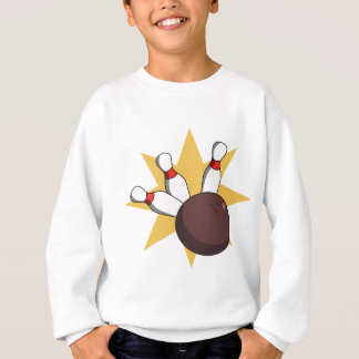 Bowling Ball Hitting Pins Sweatshirt