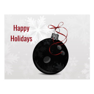 bowling ball Holiday greeting Postcard