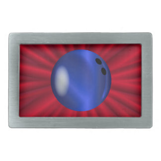 Bowling Ball Over Red Belt Buckles