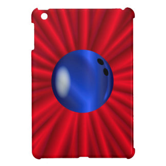 Bowling Ball Over Red iPad Mini Covers