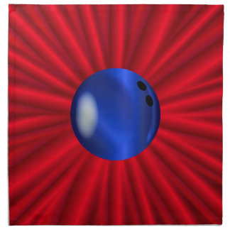 Bowling Ball Over Red Napkin