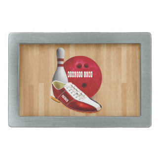 Bowling Ball Shoe And Pin With Your Custom Name Belt Buckle