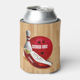 Bowling Ball Shoe And Pin With Your Custom Name Can Cooler