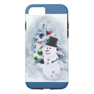 Bowling Ball Snowman Christmas iPhone 7 Case