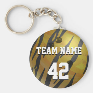 Bowling Ball Tiger Yellow Keychain