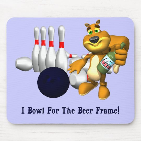 Bowling Beer Frame Mouse Pad