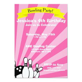 Bowling Birthday Card Invitation