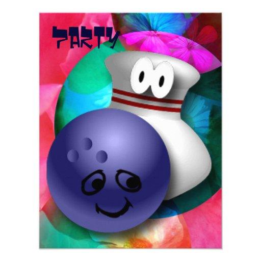 Bowling Birthday Party Custom Invites