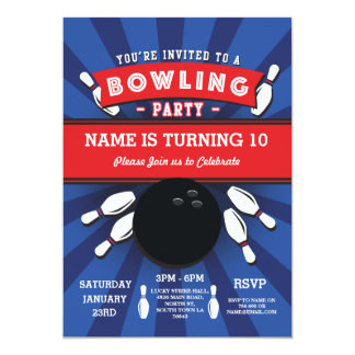 Bowling Birthday Party Tenpin Lucky Strike Invite