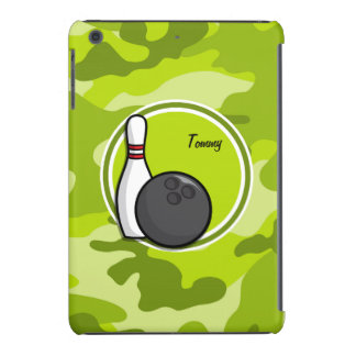 Bowling bright green camo camouflage iPad mini retina covers