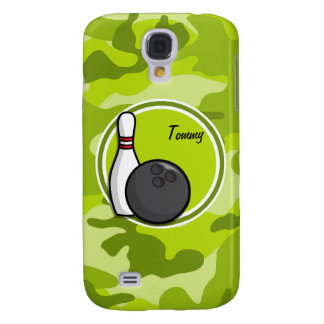 Bowling bright green camo camouflage galaxy s4 cover