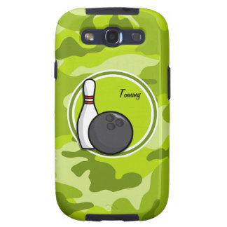 Bowling bright green camo camouflage samsung galaxy SIII cover