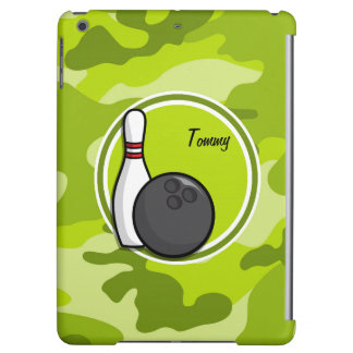 Bowling bright green camo camouflage case for iPad air