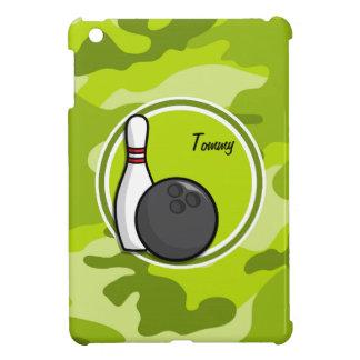 Bowling bright green camo camouflage iPad mini cases