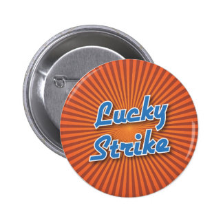 Bowling Button: Lucky Strike 2 Inch Round Button