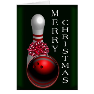 Bowling Christmas Card