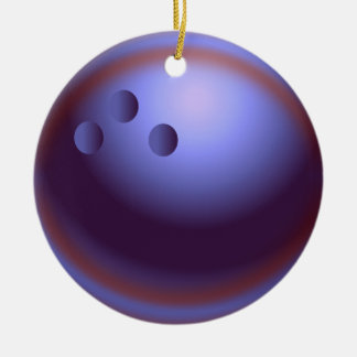 Bowling Christmas Ceramic Ornament
