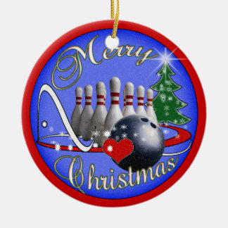 BOWLING CHRISTMAS ORNAMENT