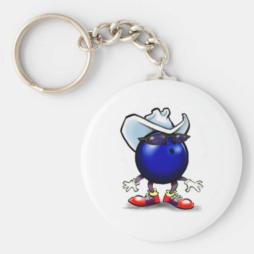 Bowling Cowboy Keychain