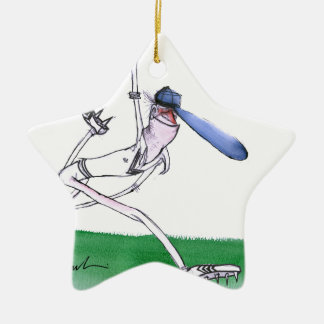 BOWLING - cricket, tony fernandes Ceramic Star Ornament