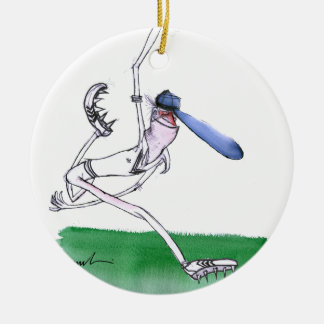 BOWLING - cricket, tony fernandes Round Ceramic Ornament
