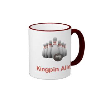 Bowling d'allée de cheville ouvrière mug ringer