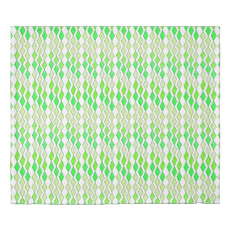 Bowling Diamonds - green hues Duvet Cover
