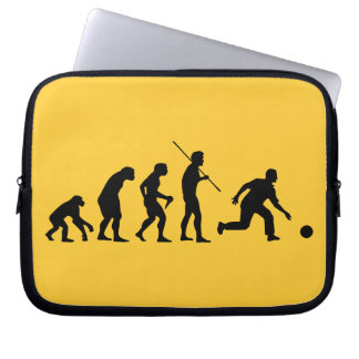 bowling evolution from man to bowler laptop sleeve