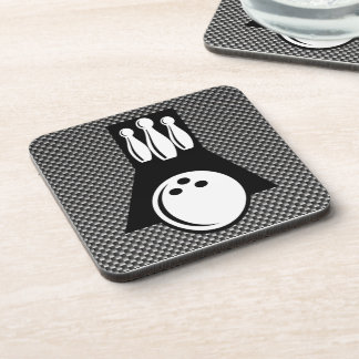 Bowling; Faux Carbon Fiber Drink Coasters