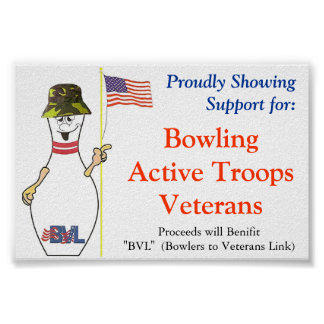 Bowling for our Veterans Poster