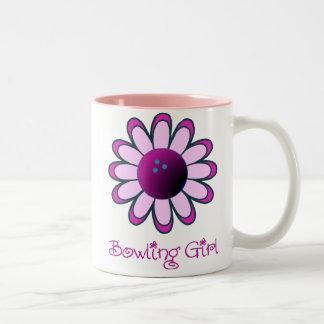 Bowling Girl Two-Tone Coffee Mug