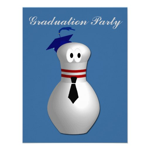 Bowling Graduation Party Personalized Invite