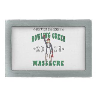 Bowling Green Massacre 2011 Rectangular Belt Buckles