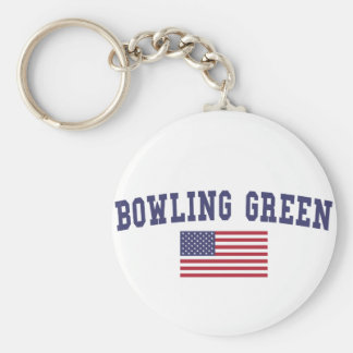 Bowling Green US Flag Basic Round Button Keychain