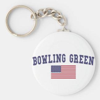 Bowling Green US Flag Keychain