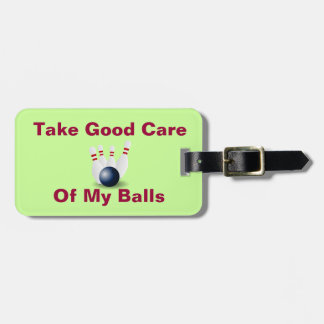Bowling Green Yellow Red Personalized Bag Tag