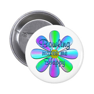 Bowling Happy 2 Inch Round Button