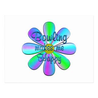 Bowling Happy Postcard
