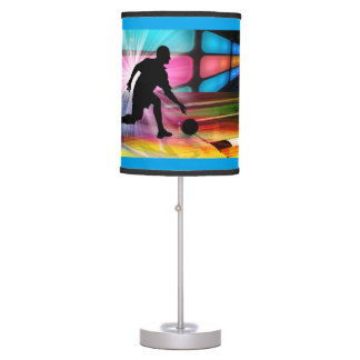 Bowling in Neon Alley Table Lamps