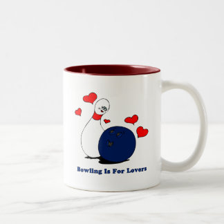 Bowling Is For Lovers Two-Tone Coffee Mug