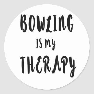 Bowling is my Therapy Classic Round Sticker